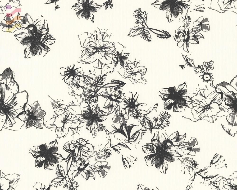 tapeta w delikatne wzory kwiatowe