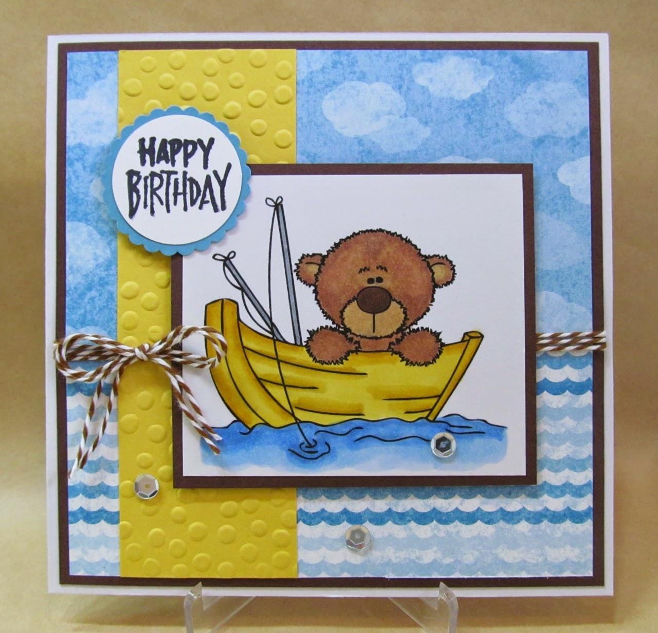Savvy handmade cards fishing happy birthday card fishing happy birthday card greetings kristyandbryce Choice Image