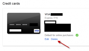 Remove Credit Card Details From Google Play Store: