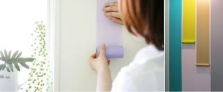 washi tape listras na parede
