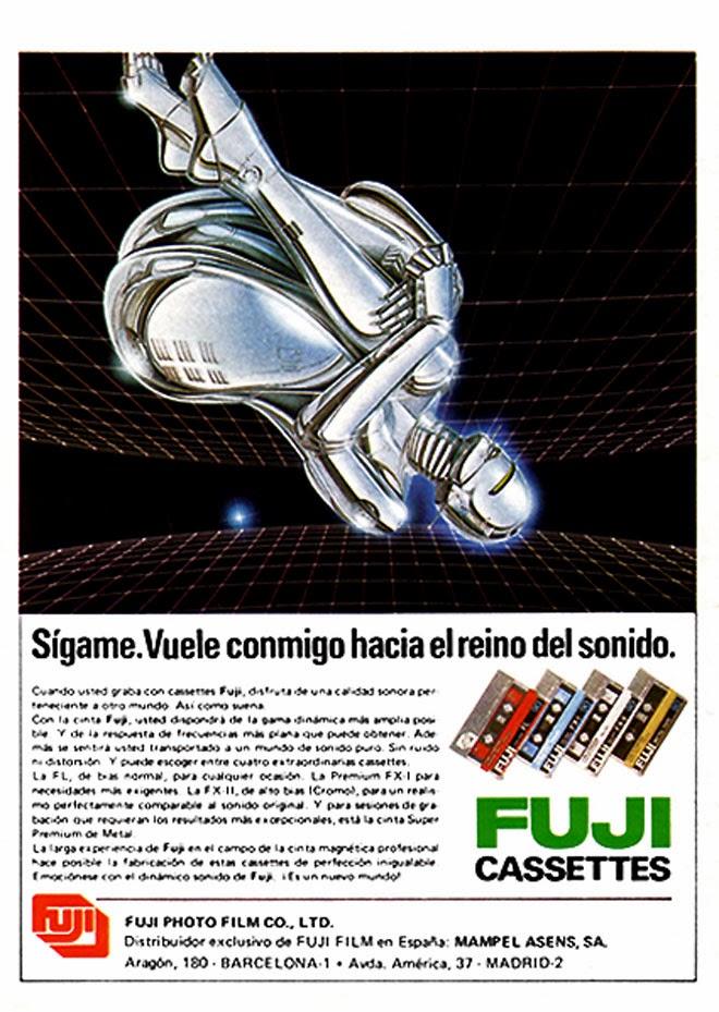 Cassettes Fuji Publicidad de los años 80