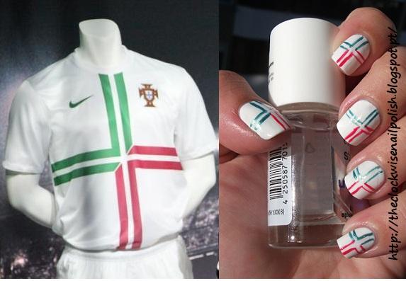 Nail art inspirada em Portugal