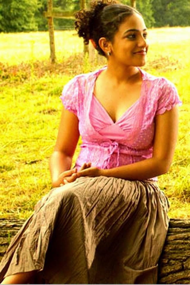 Nithya Menon hot navel boobs Images