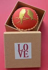 dia dos namorados - cupcake em pasta americana passarinho