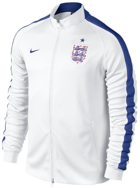 Football Jackets - Nike England N98 Authentic Track Jacket - Replica Clothing - White-Sport Royal