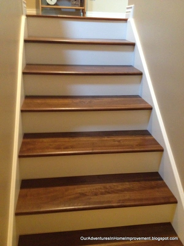 ... The New Stairs Out Of Walnut. Both Woods Are Fairly Close In Looks, But  We Wanted To Make Sure That The Stairs Matched The Main Living Area As  Closely ...