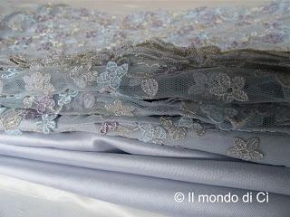 I tessuti del mio abito da sposa: mikado, doucesse, pizzo lavorato in rilievo