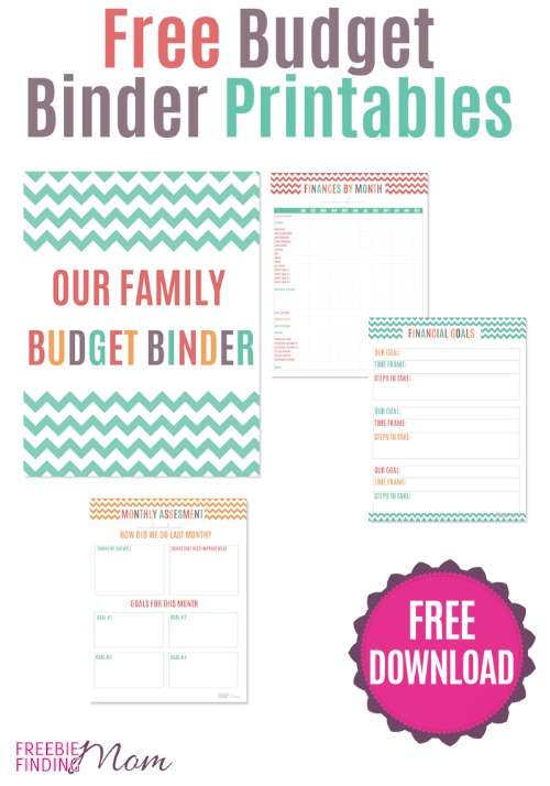 Free Family Budget Binder Printable