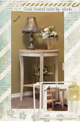Chalk Painted Round Table
