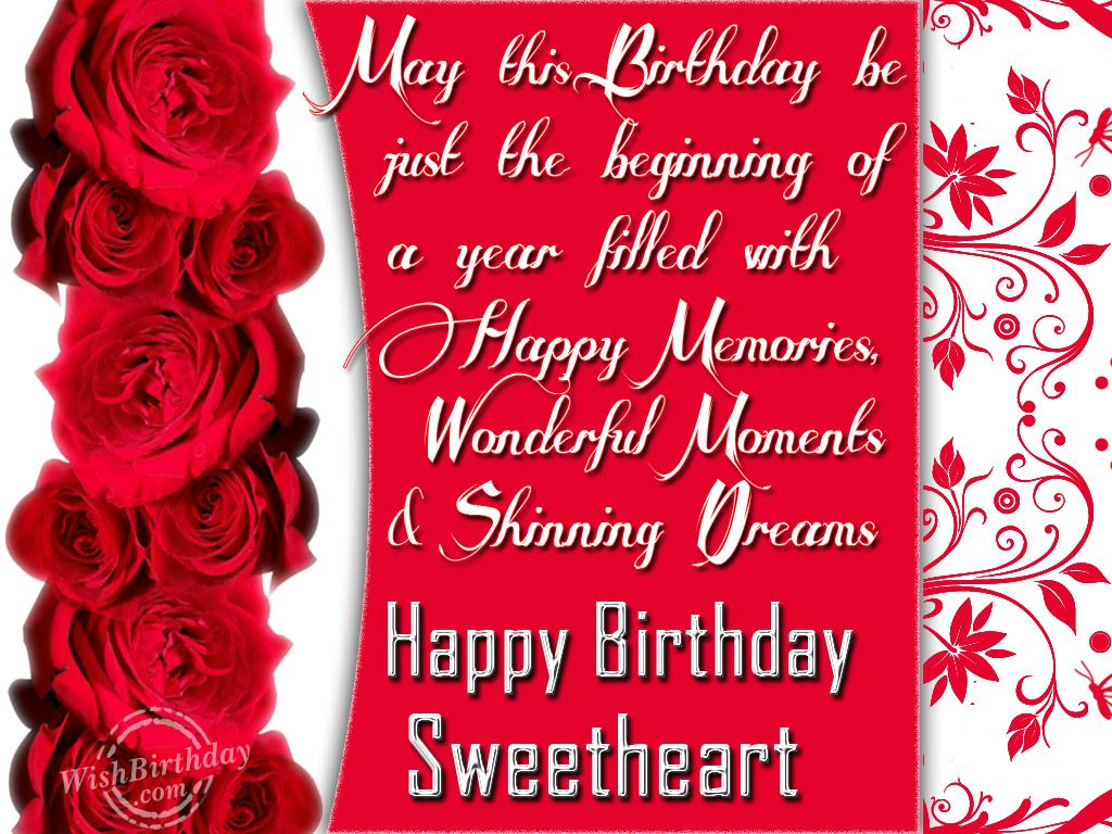 Happy birthday wishes to girlfriend sms
