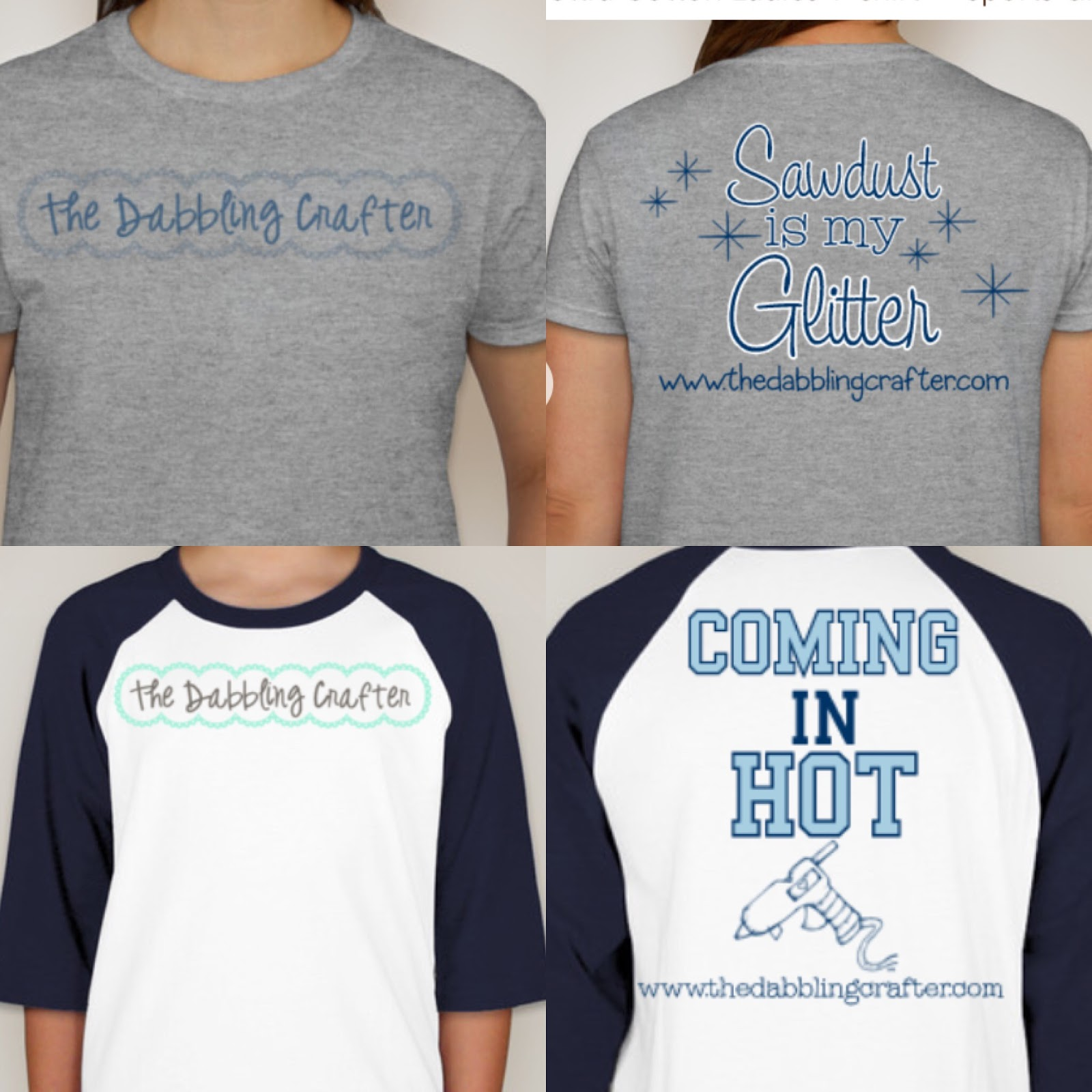 The Dabbling Crafter Show Tell Customink Crafting T Shirts