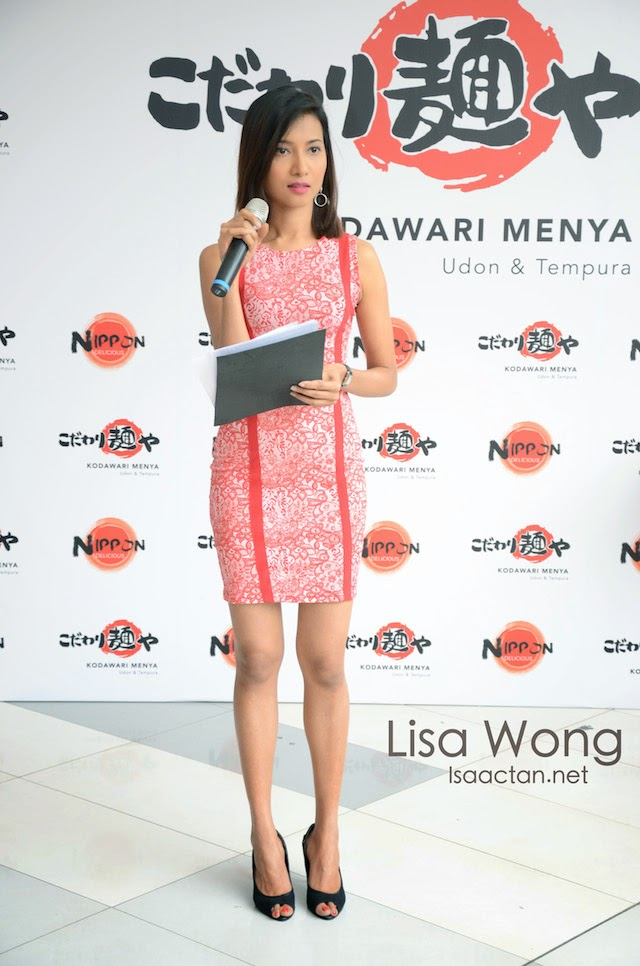 Emcee Lisa Wong delivered the opening note