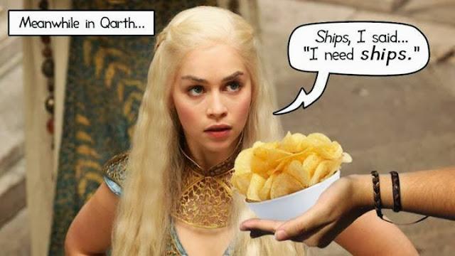 daenerys barcos no patatas - Juego de Tronos en los siete reinos