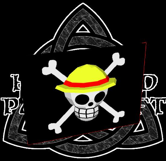 One Piece Straw Hat Pirates Papercraft Flag