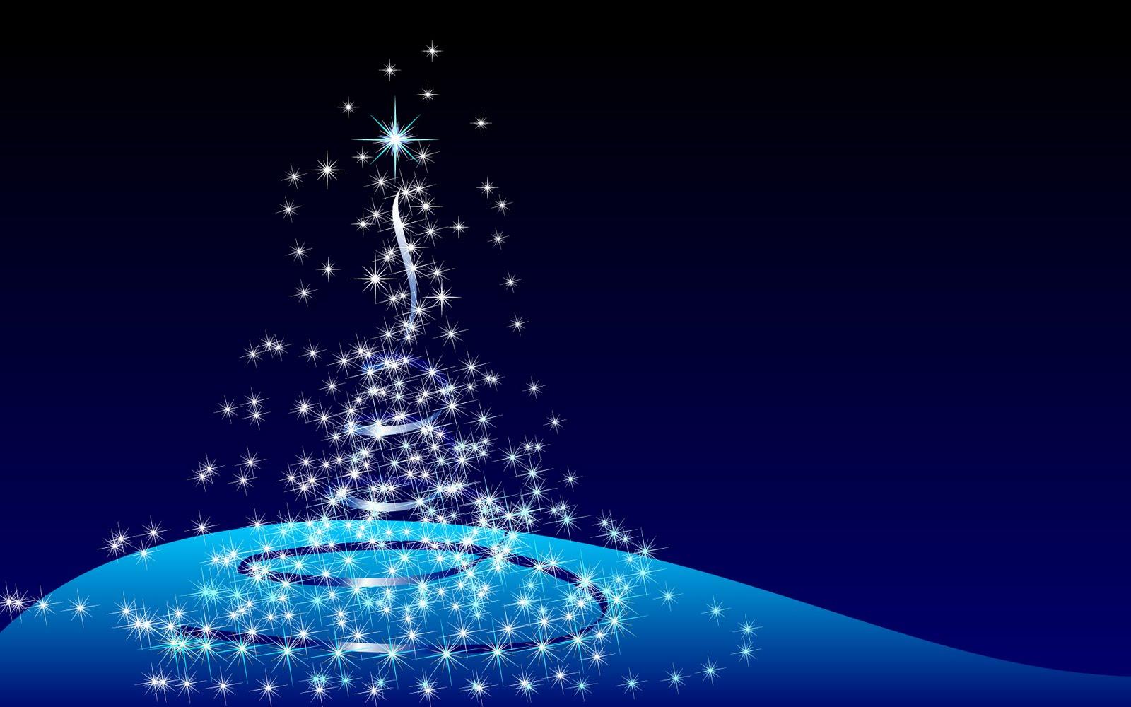 Imagem de fundo árvore de natal estilizada em tons azuis