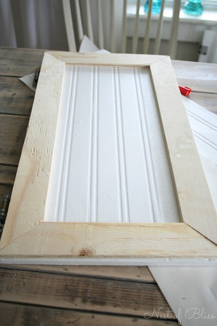 DIY Beadboard Wallpaper Cabinets! - Nest of Bliss