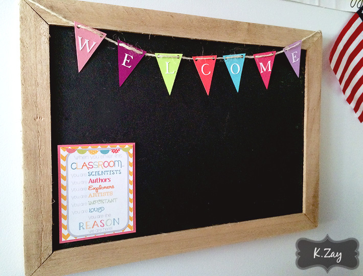 another new addition is the chalkboard from hobby lobby much more substantial then the white board we had previously bunting is diy and the little poster
