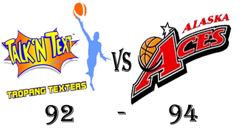 Talk 'N Text loss against Alaska Aces in Game 33 Result