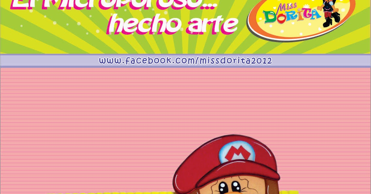06 >> Miss Dorita: Portafotos de Mario Bros
