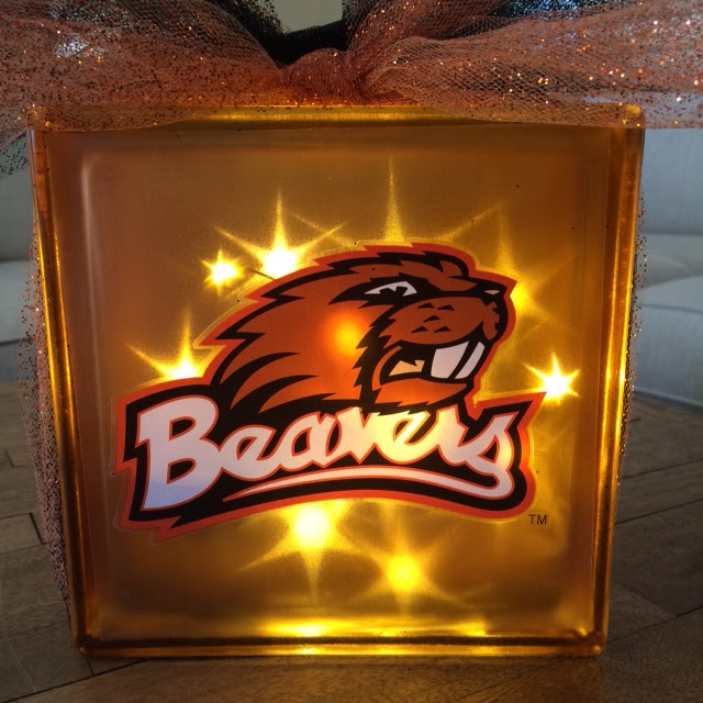 OSU Beaver light up block @craftsavy