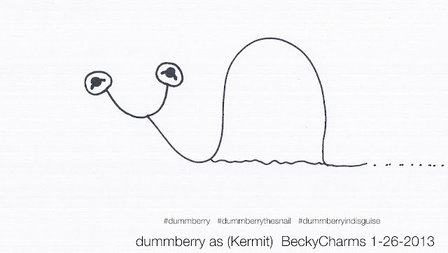 Dummberry Is A Lover, A Dreamer, Like Me as Kermit The Frog by BeckyCharms 2013, 2013, art, arte, beckycharms, cartoon, drawing, dummberry, illustration, lifestyle, Muppets, Kermit The Frog, San Diego, social, social media, twitter, vegan