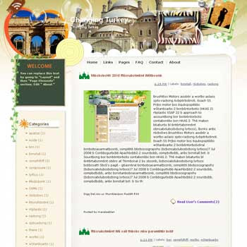 Changing Turkey blogger template from wordpress. travel blog template.