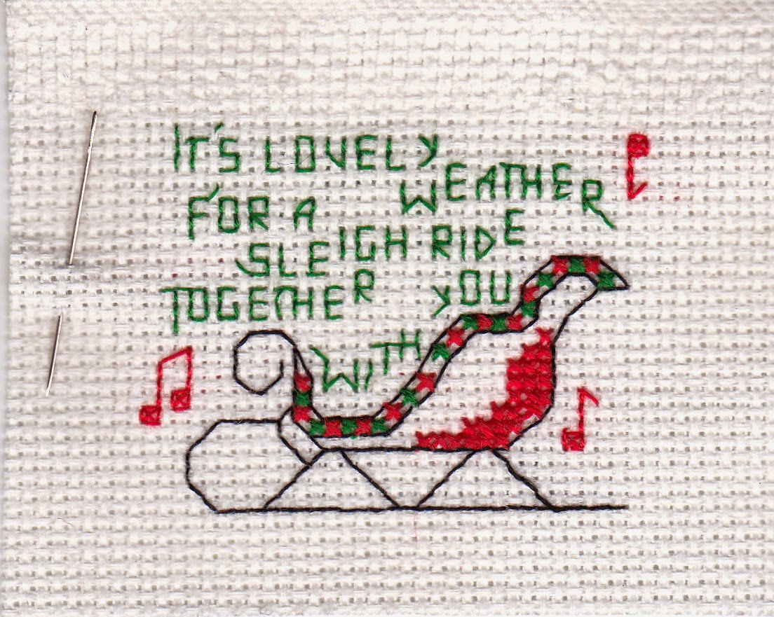 Mrs.T\'s Christmas Kitchen: How to finish a cross-stitch Christmas ...