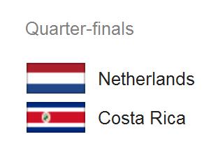 Jadwal Pertandingan Belanda vs Kosta Rika - Perempat Piala Dunia 2014