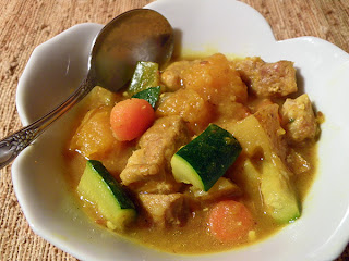 Small Bowl of Curry with Spoon