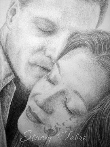 Lloyd and Monique closeup of drawing