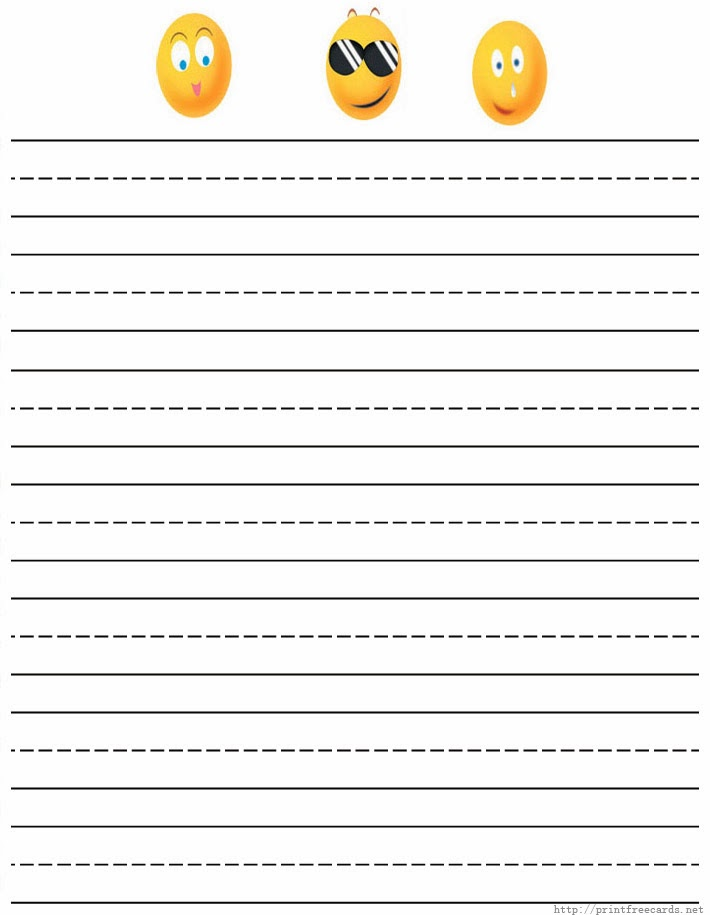 Doc612474 Print Writing Paper Primary Dashed Writing Paper – Free Printable Lined Writing Paper