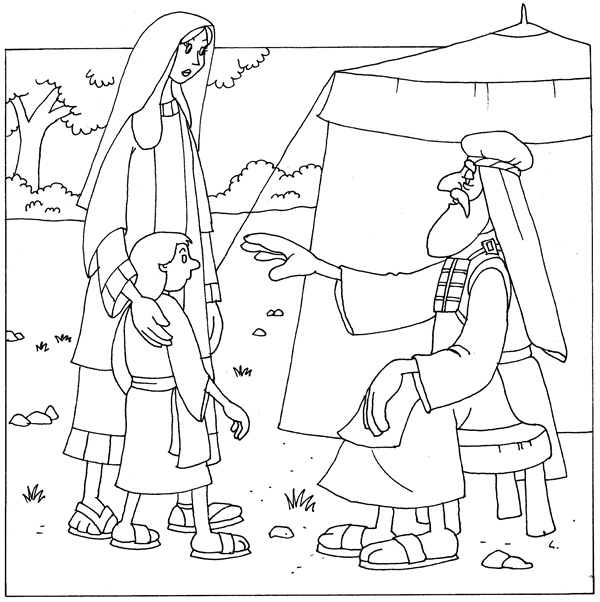 Baby Holiday Coloring Pages Samuel Bible
