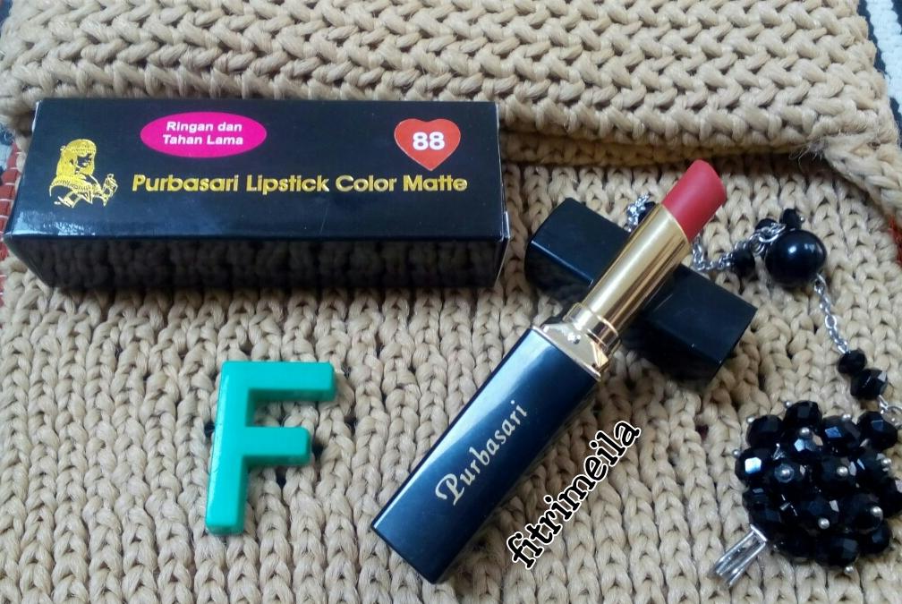 meilawfi: Review : Lipstik Purbasari Matte no 88