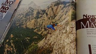 Climber on slab