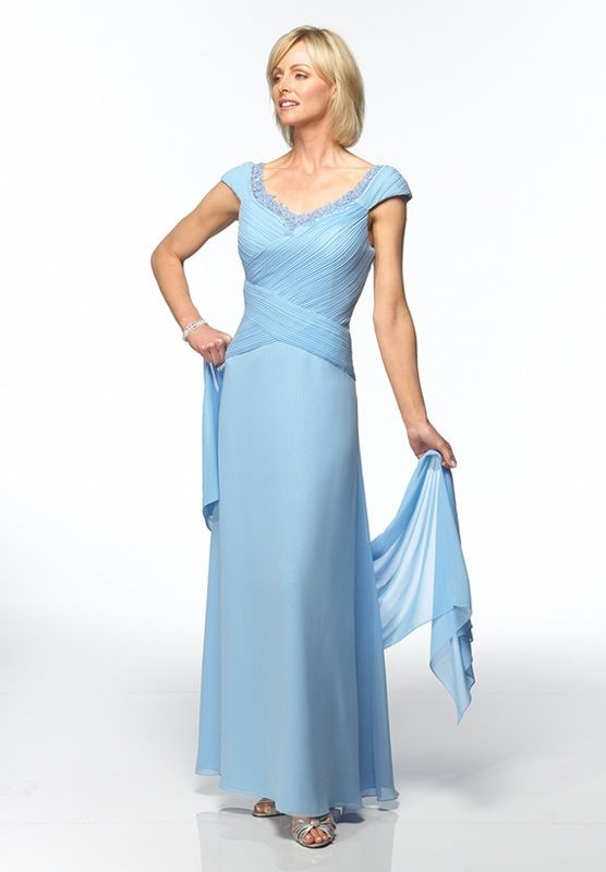mother of the bride dress with cap sleeves
