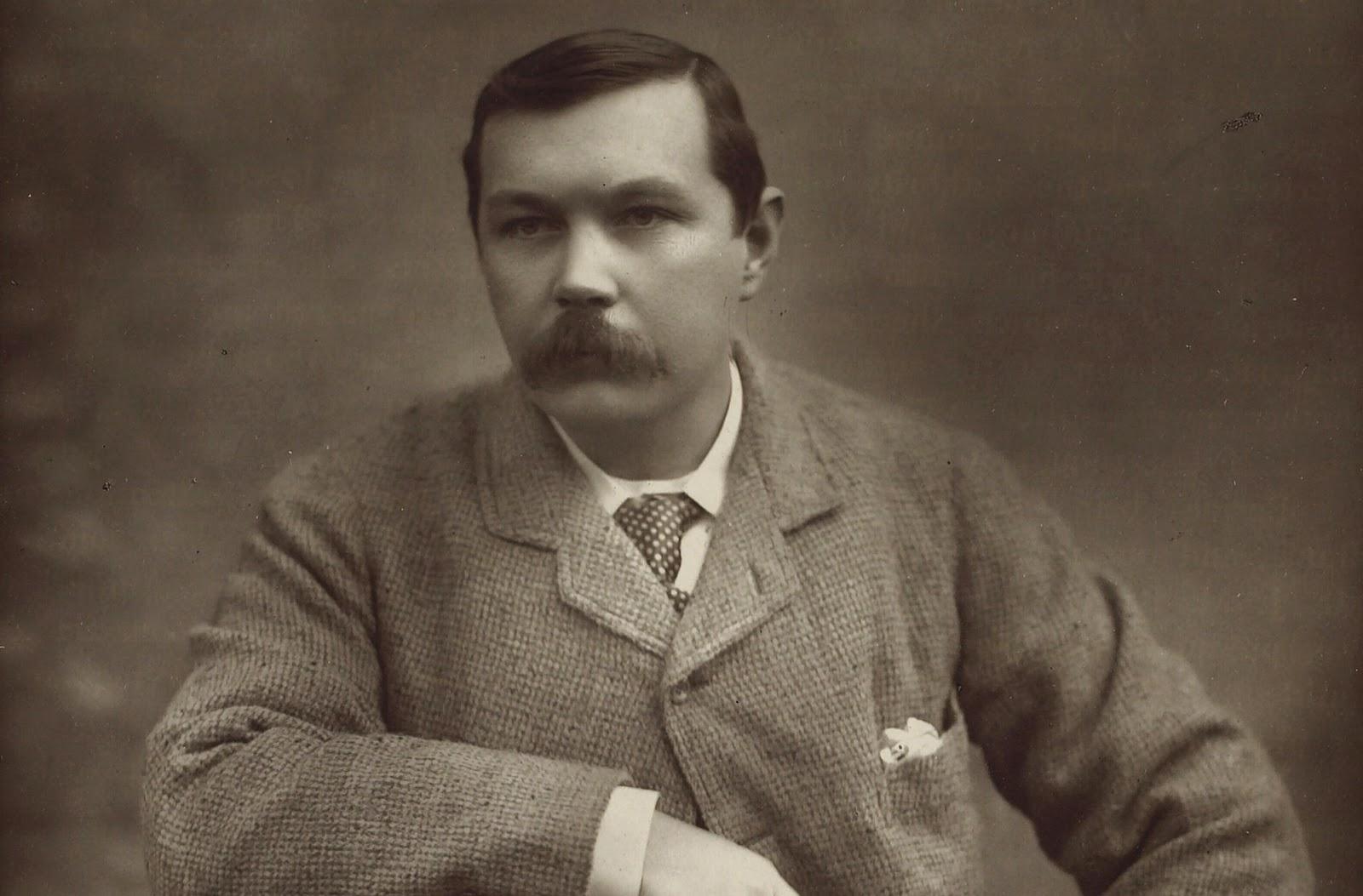 Arthur Conan Doyle portrait 1893 - credit Wikimedia