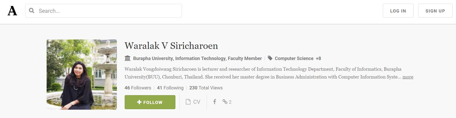 Waralak V. Siricharoen Academia.edu