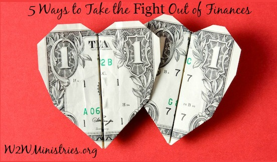 5 Ways to Take the Fight Out of Finances  #finances #marriage