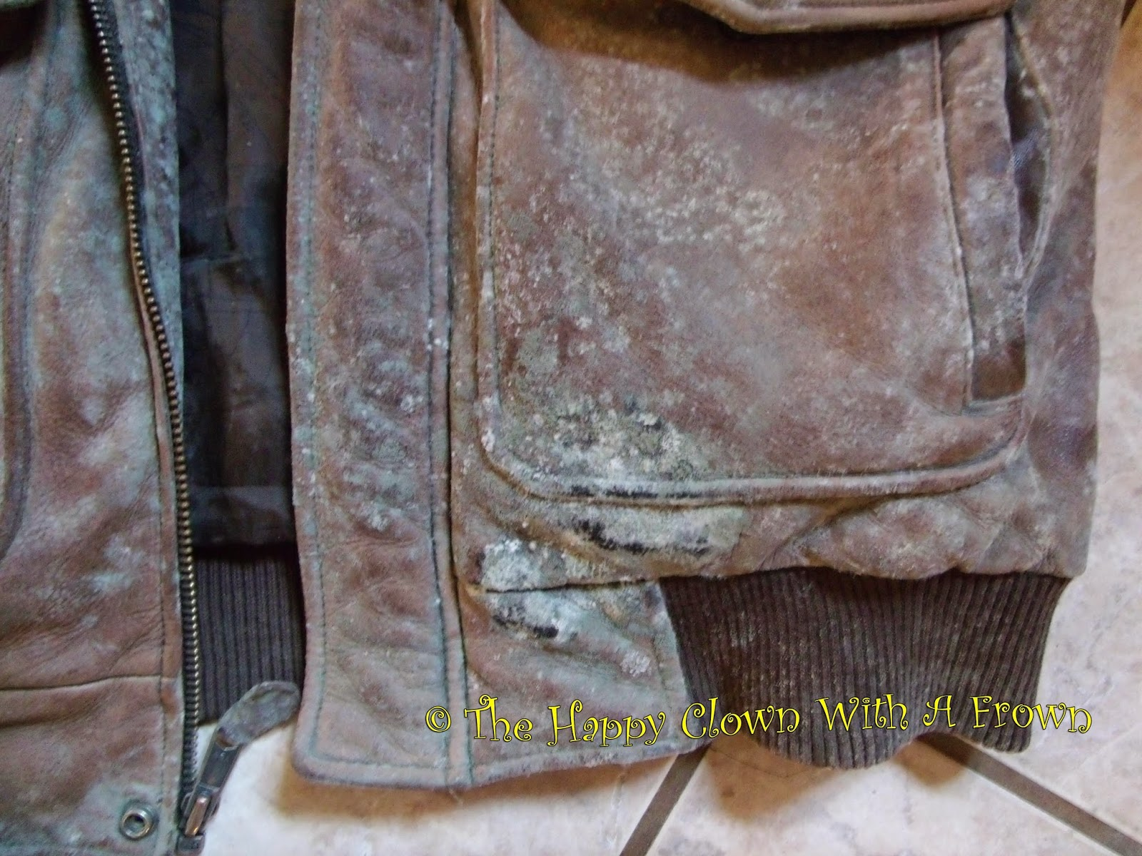 how to get pen off leather coat