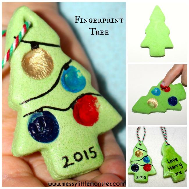 Christmas Craft For Preschoolers Ideas Part - 40: Salt Dough Fingerprint Christmas Tree Ornament, Gift Tag Or Keepsake. An  Easy Christmas Craft