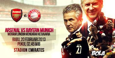 Hasil Skor Arsenal vs Bayern Munich Liga Champions (Rabu, 20 Februari 2013)