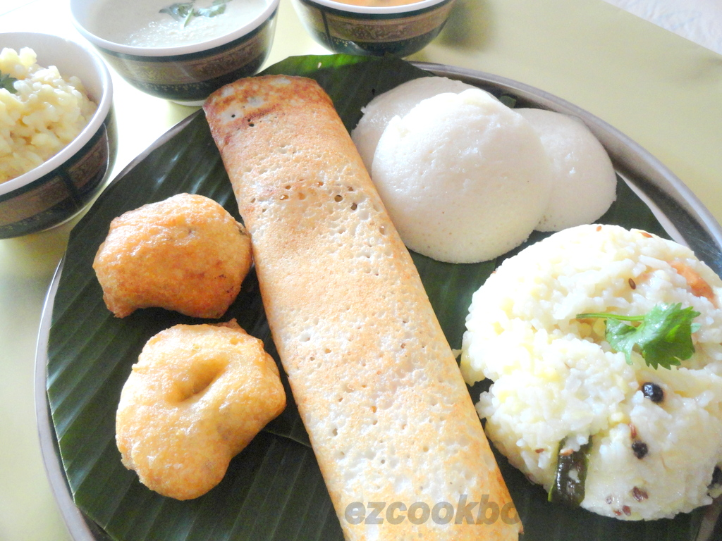 Tamilnadu traditional breakfast platter tiffin recipes for Aharam traditional cuisine of tamil nadu