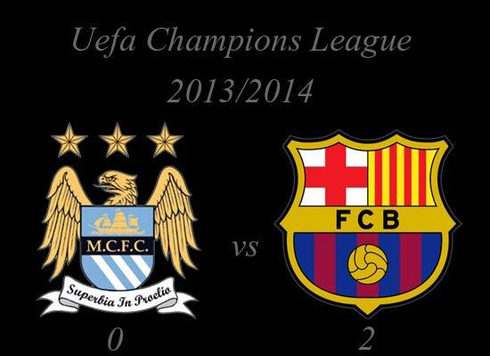 Manchester City vs Barcelona Uefa Champions League February 2014