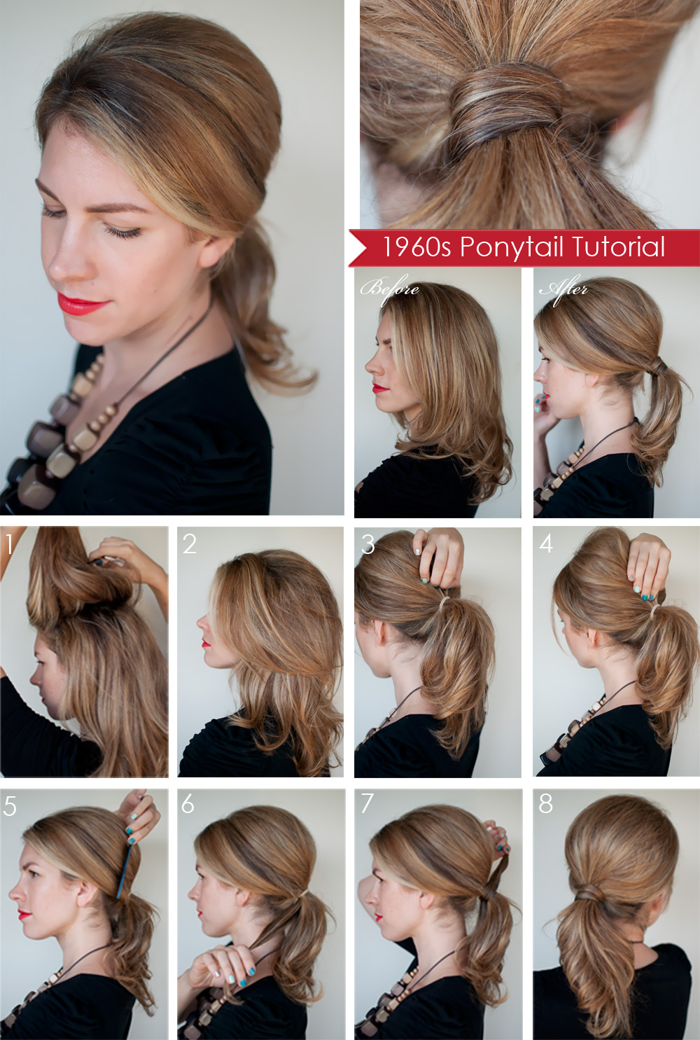 L KNAFO Do It Yourself DIY Hairstyle 1960s39 Ponytail