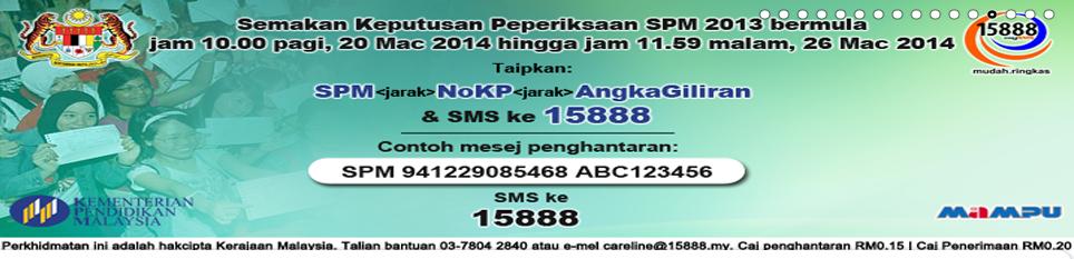 Semakan Keputusan Spm 2013 Secara Sms Dan Online Ciklaili