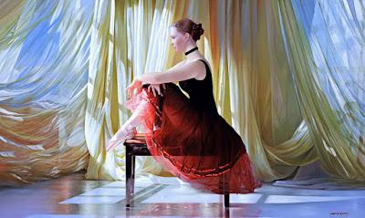 Pintura Mujer Bailarina de Balet