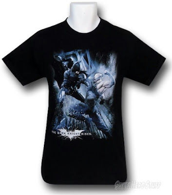 Click here to order your Dark Knight Rises Enemies Clash t-shirt at SuperHeroStuff!