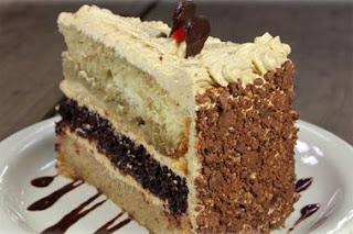 Torta de Cerezas con Crema de Ron