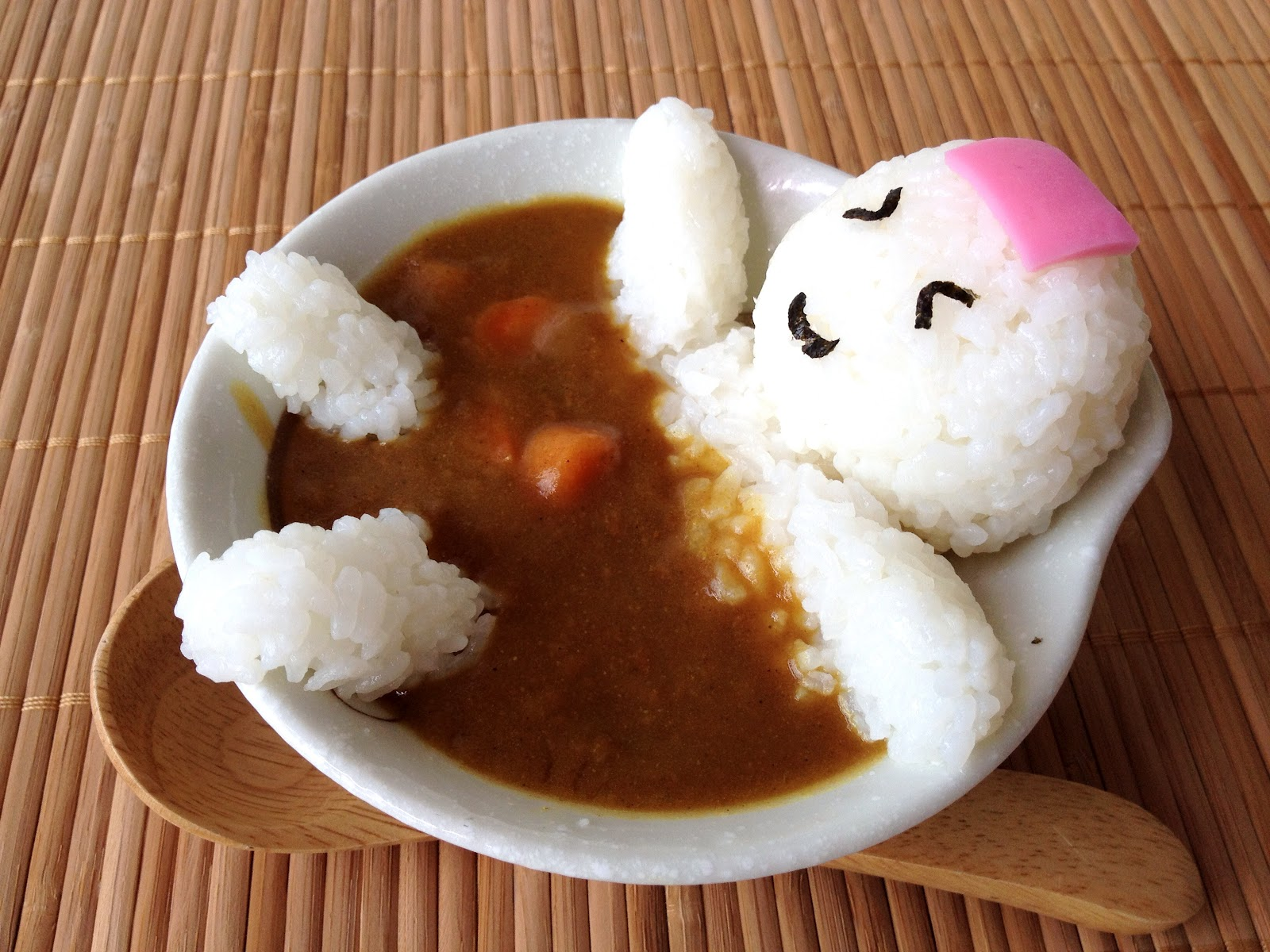 Onigiri man in curry onsen p little miss bento - Stylish cooking ...