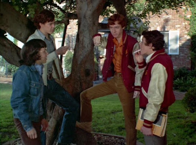Greg Brady smoking with his homies